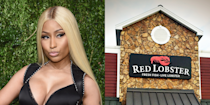 """<p>Nicki has repeatedly discussed her pre-fame job as a waitress at our nation's finest chain of casual dining seafood restaurants, but even she'd tell you it wasn't her forte. """"I like dealing with people, but I don't really like a lot of bullshit, so maybe customer service wasn't the best job for me,"""" she told <em><a href=""""https://www.gq.com/story/nicki-minaj?currentPage=1"""" rel=""""nofollow noopener"""" target=""""_blank"""" data-ylk=""""slk:GQ"""" class=""""link rapid-noclick-resp"""">GQ</a> </em>in 2014. She was fired from Red Lobster after she followed a couple who'd stolen her pen into the parking lot and flipped them off. </p>"""