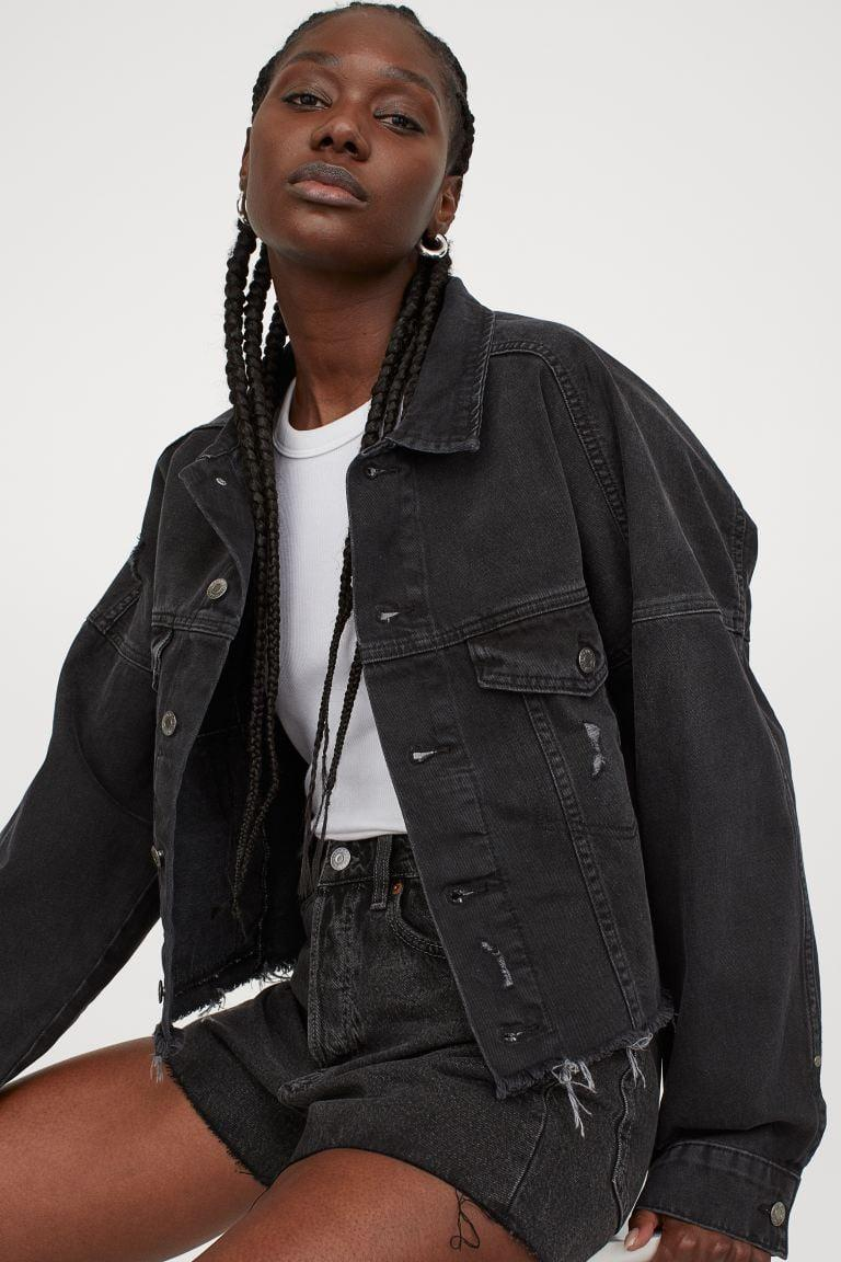 <p>If you love the look of black denim, go for this <span>H&amp;M Boxy Denim Jacket</span> ($30).</p>