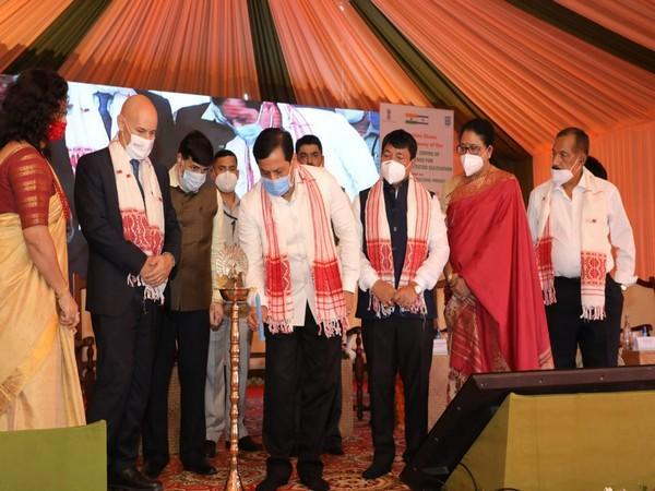 Visual from the foundation laying ceremony. [Photo: Assam CMO Twitter]