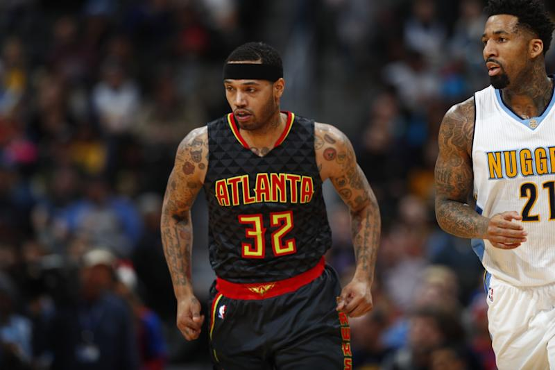 Mike Scott played 18 games for the Hawks this past season. (AP)