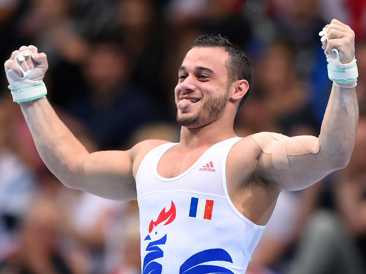 French gymnast Samir Ait Said performs first somersault since suffering broken leg at Rio 2016 Olympics