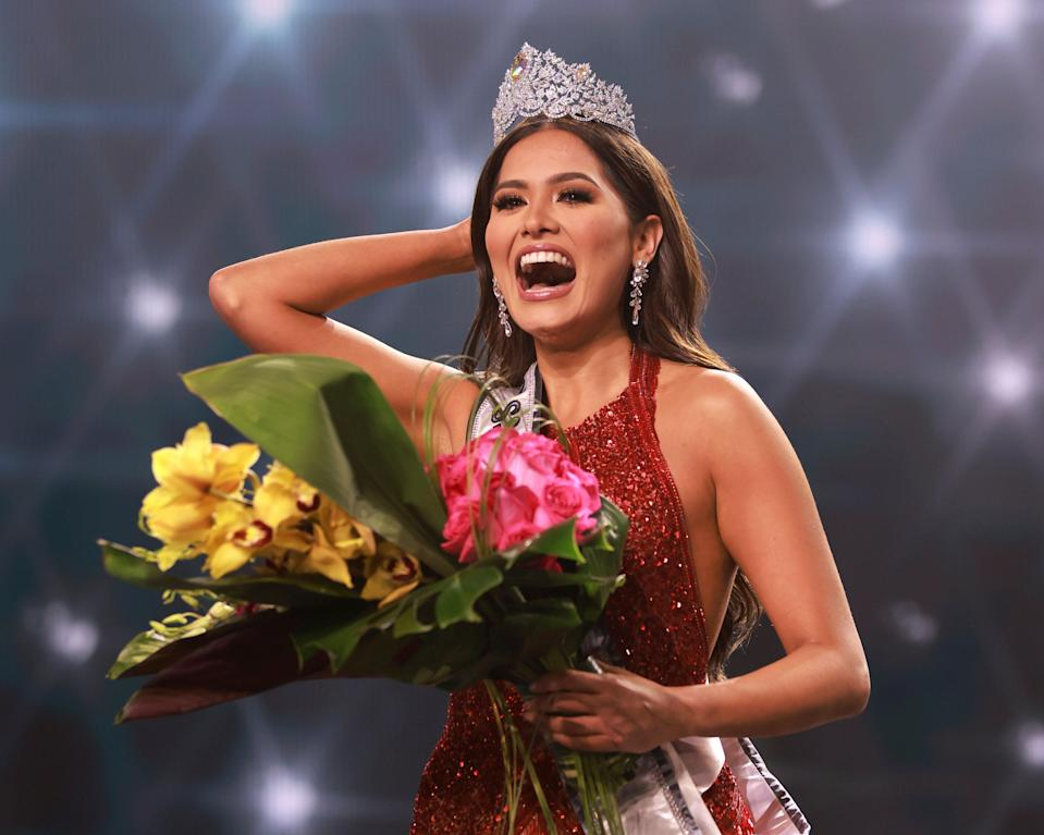 <p>Andrea Maza, the newly crowned Miss Universe had caused widespread confusion about whether she is married</p> (AP)