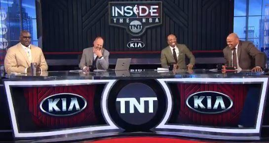 The 'Inside the NBA' crew couldn't help but break down laughing at an angry Shaq. (via NBA on TNT)