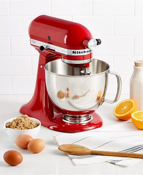 """<p>This <a href=""""https://www.popsugar.com/buy/KitchenAid-Artisan-5-Qt-Stand-Mixer-488424?p_name=KitchenAid%20Artisan%205%20Qt.%20Stand%20Mixer&retailer=macys.com&pid=488424&price=380&evar1=savvy%3Auk&evar9=46586150&evar98=https%3A%2F%2Fwww.popsugar.com%2Fsmart-living%2Fphoto-gallery%2F46586150%2Fimage%2F46586157%2FKitchenAid-Artisan-5-Qt-Stand-Mixer&list1=shopping%2Cmacys%2Cbest%20of%202019&prop13=api&pdata=1"""" rel=""""nofollow"""" data-shoppable-link=""""1"""" target=""""_blank"""" class=""""ga-track"""" data-ga-category=""""Related"""" data-ga-label=""""https://www.macys.com/shop/product/kitchenaid-ksm150ps-artisan-5-qt.-stand-mixer?ID=77589&amp;CategoryID=7554&amp;sizes=ELECTRICS_TYPE!!Air%20Fryer;;Blender;;Coffee%20%26amp%3B%20Espresso;;Electric%20%26amp%3B%20Tea%20Kettles;;Food%20Processor;;Juicer;;Mixers%20%26amp%3B%20Attachments;;Toaster%20%26amp%3B%20Toaster%20Ovens&amp;swatchColor=Empire%20Red#fn=ELECTRICS_TYPE%3DAir%20Fryer%3B%3BBlender%3B%3BCoffee%20&amp;%20Espresso%3B%3BElectric%20&amp;%20Tea%20Kettles%3B%3BFood%20Processor%3B%3BJuicer%3B%3BMixers%20&amp;%20Attachments%3B%3BToaster%20&amp;%20Toaster%20Ovens%26sp%3D1%26spc%3D758%26ruleId%3D78%7CBOOST%20ATTRIBUTE%7CBOOST%20SAVED%20SET%26searchPass%3DmatchNone%26slotId%3D2"""" data-ga-action=""""In-Line Links"""">KitchenAid Artisan 5 Qt. Stand Mixer</a> ($380, originally $475) is a kitchen essential, and we've been lusting after it forever.</p>"""