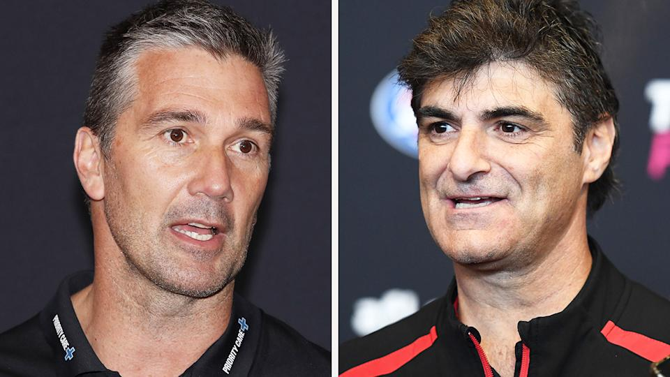 A 50-50 split image shows Stephen Silvagni on the left and Adrian Dodoro on the right.