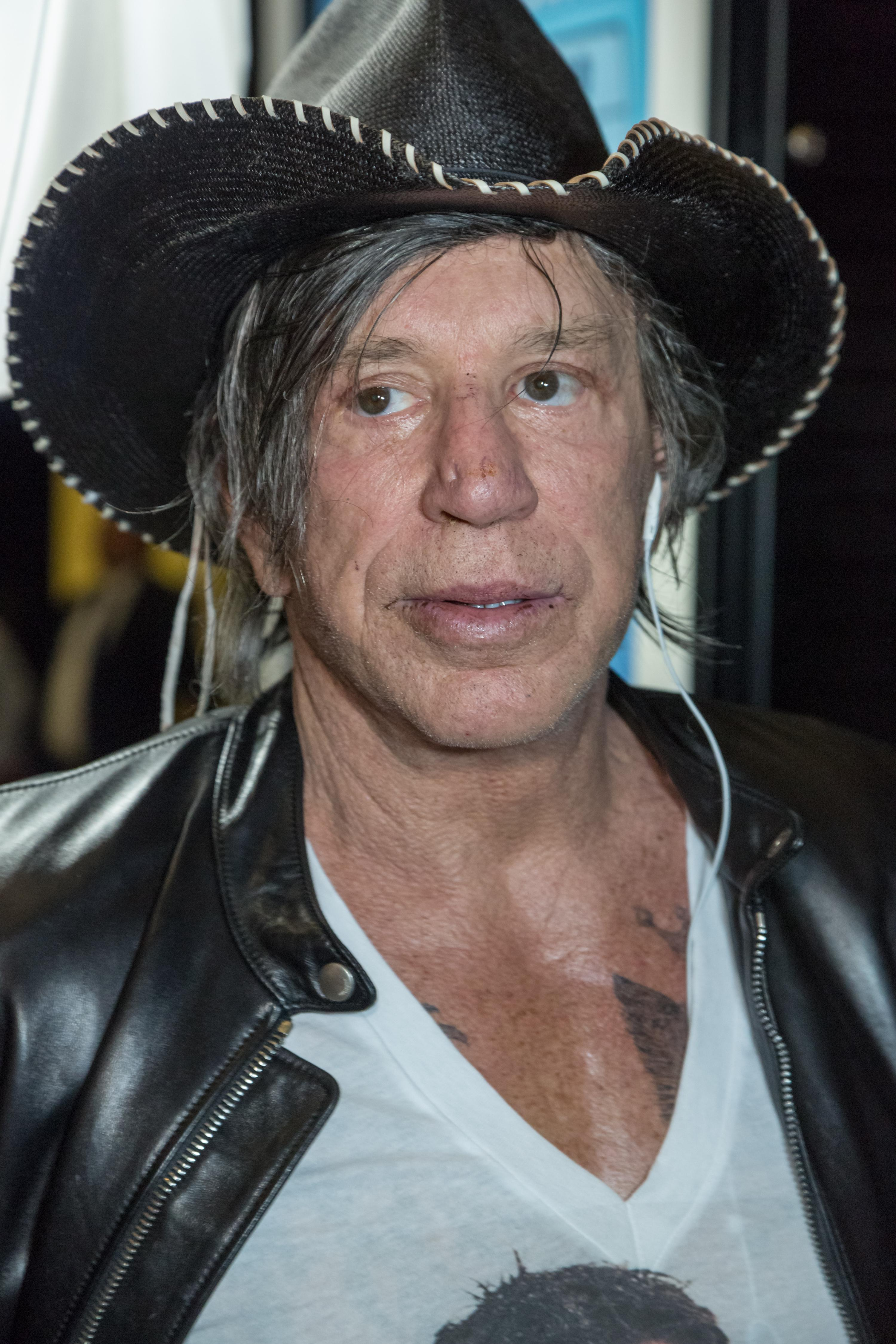 eb12744d4ba Mickey Rourke attends the screening of Through My Father s Eyes  The Ronda  Rousey Story in Hollywood