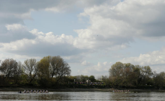 Britain Rowing - 2017 Oxford v Cambridge University Boat Race - River Thames, London - 2/4/17 General view during the womens boat race Action Images via Reuters / Matthew Childs Livepic