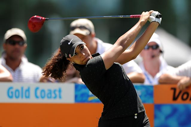 GOLD COAST, AUSTRALIA - FEBRUARY 02: Cheyenne Woods of the United States plays her tee shot on the 1st hole during the Australian Ladies Masters at Royal Pines Resort on February 2, 2013 on the Gold Coast, Australia. (Photo by Matt Roberts/Getty Images)