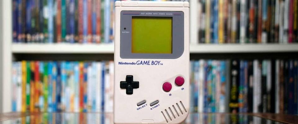 SAO PAULO, SP BRAZIL - SEPT 2nd, 2020: A retro hand held nintendo gameboy game boy original