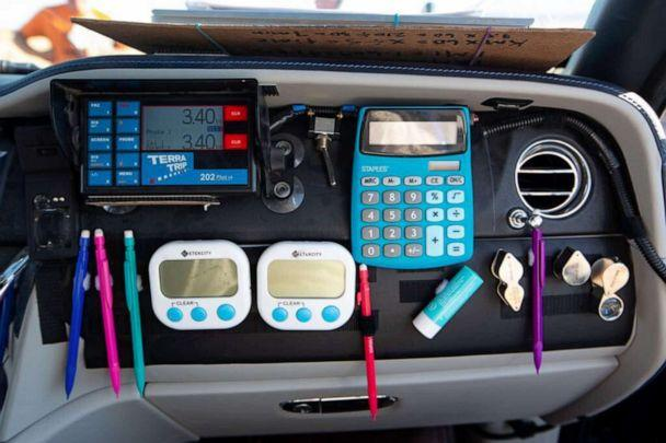 PHOTO: Rebecca Donaghe's tools for navigating last year's Rebelle Rally. Cellphones are prohibited. (Courtesy of Rebelle Rally)