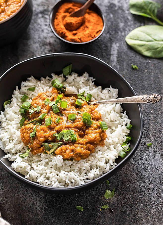 """<p>Ethiopia is known for it's rich vegan dishes, and this recipe really makes those flavors shine.</p><p>Get the recipe from <a href=""""https://www.cookwithmanali.com/instant-pot-ethiopian-lentil-stew/"""" rel=""""nofollow noopener"""" target=""""_blank"""" data-ylk=""""slk:Cook with Manali"""" class=""""link rapid-noclick-resp"""">Cook with Manali</a>.</p>"""