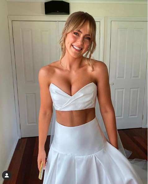 Steph Claire Smith crop top wedding dress