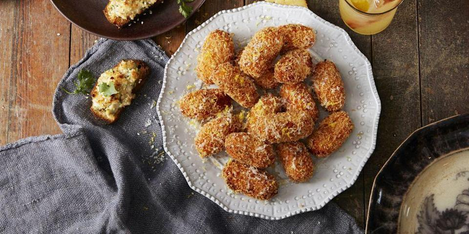 """<p>These croquettes take a while to make, but as soon as you pop one into your mouth you'll realize all the work was worth it. <br></p><p><em><a href=""""https://www.goodhousekeeping.com/food-recipes/easy/a35167/sweet-potato-croquettes/"""" rel=""""nofollow noopener"""" target=""""_blank"""" data-ylk=""""slk:Get the recipe for Sweet Potato Croquettes »"""" class=""""link rapid-noclick-resp"""">Get the recipe for Sweet Potato Croquettes »</a></em></p>"""