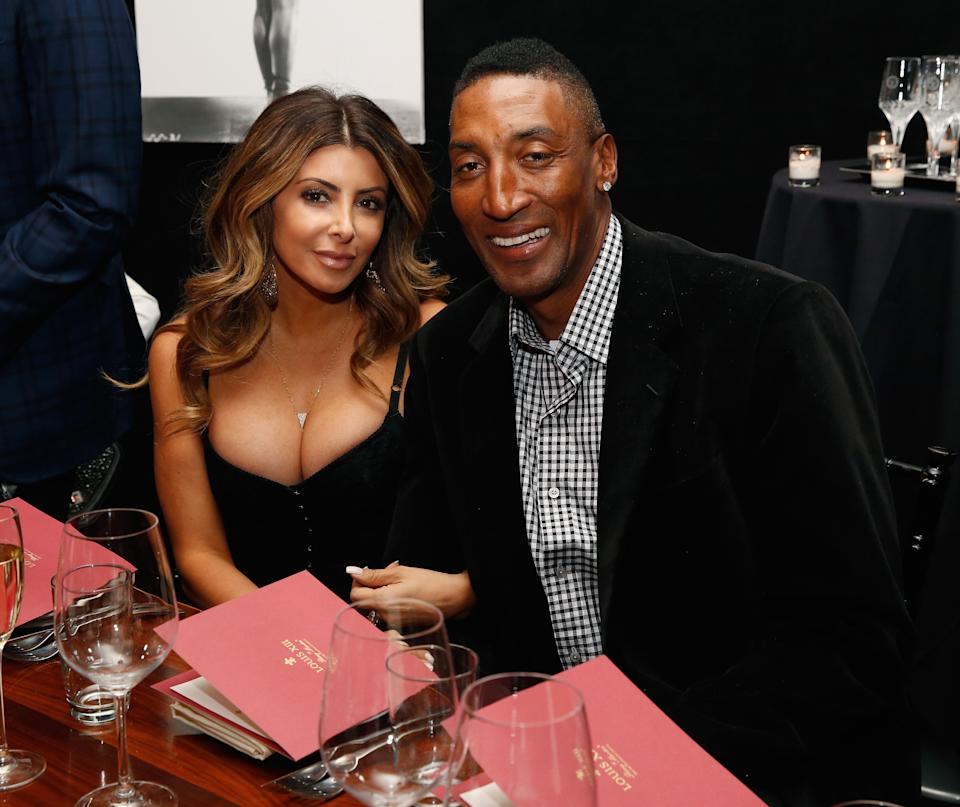 Larsa and Scottie Pippen at a restaurant