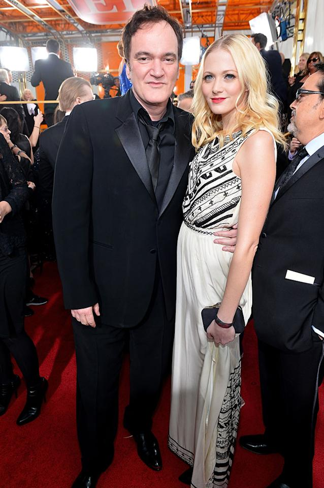 Quentin Tarantino arrives at the 70th Annual Golden Globe Awards at the Beverly Hilton in Beverly Hills, CA on January 13, 2013.