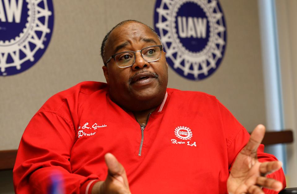 United Auto Workers (UAW) acting president Rory Gamble speaks to Reuters from his office in Southfield, Michigan, U.S. November 6, 2019.   REUTERS/Rebecca Cook