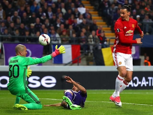 Ibrahimovic was again central to United's attack (Getty)