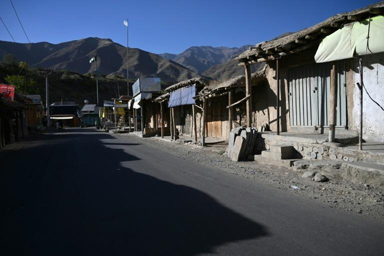 Markets and shops in Panjshir's villages are deserted with very few businesses still open (AFP/WAKIL KOHSAR)