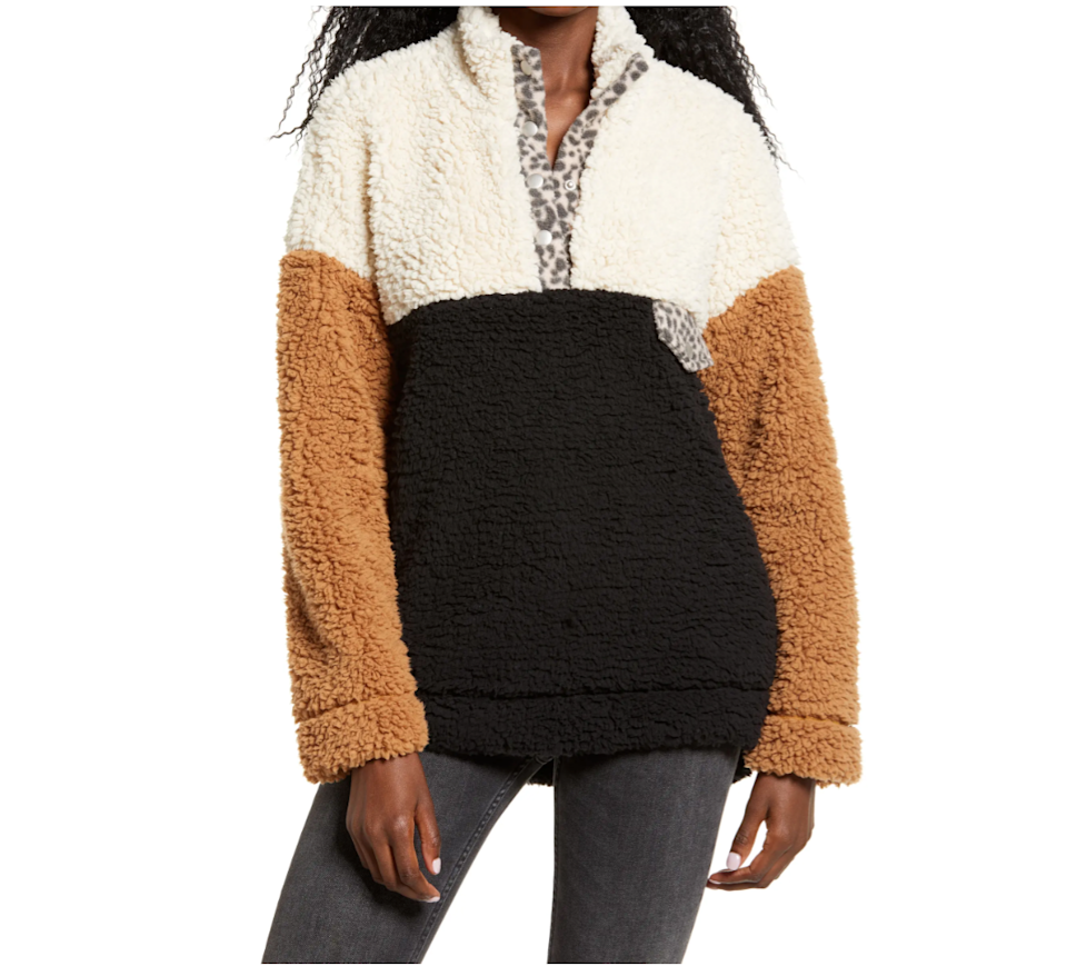 """<h2>Nordstrom</h2><br><strong>Sale:</strong> Up to 60% off new markdowns and an extra 25% off clearance<br><strong>Dates:</strong> Now - January 18<br><strong>Promo Code:</strong> None<br><br><em>Shop</em> <strong><em><a href=""""http://nordstrom.com"""" rel=""""nofollow noopener"""" target=""""_blank"""" data-ylk=""""slk:Nordstrom"""" class=""""link rapid-noclick-resp"""">Nordstrom</a></em></strong><br><br><strong>Thread Supply</strong> Wubby Colorblock Fleece Pullover, $, available at <a href=""""https://go.skimresources.com/?id=30283X879131&url=https%3A%2F%2Fwww.nordstrom.com%2Fs%2Fthread-supply-wubby-colorblock-fleece-pullover%2F5613333"""" rel=""""nofollow noopener"""" target=""""_blank"""" data-ylk=""""slk:Nordstrom"""" class=""""link rapid-noclick-resp"""">Nordstrom</a>"""