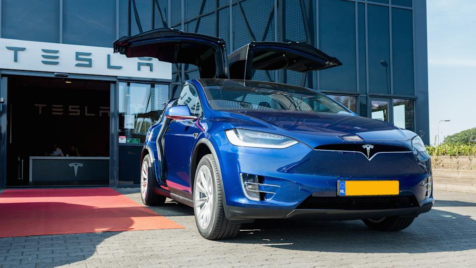 TILBURG, NETHERLANDS - SEPTEMBER 25, 2016: TESLA MODEL X.
