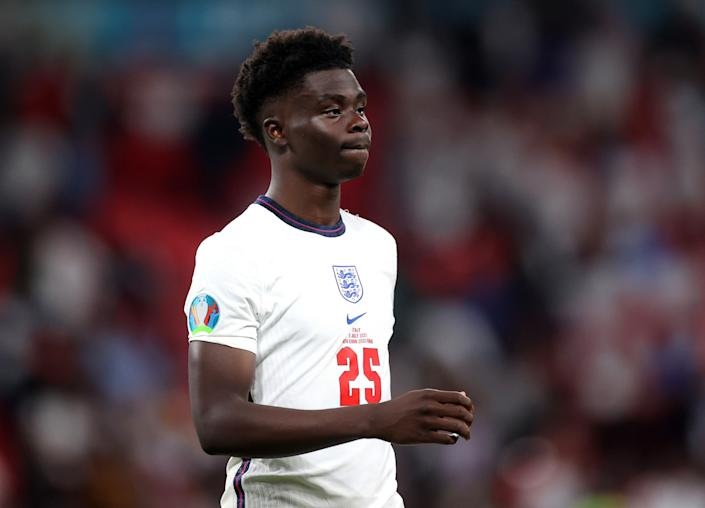 Bukayo Saka, 19, was targeted with racist abuse after Sunday's Euro 2020 loss. (Reuters/Carl Recine)