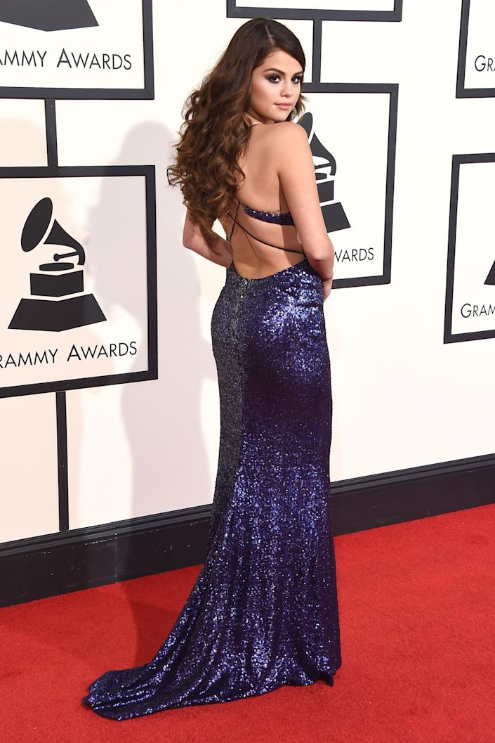 """<h3>Selena Gomez, 2016</h3><br>Selena Gomez worked the cameras with her side-parted, voluminous brunette curls.<span class=""""copyright"""">Photo: Steve Granitz/WireImage.</span>"""