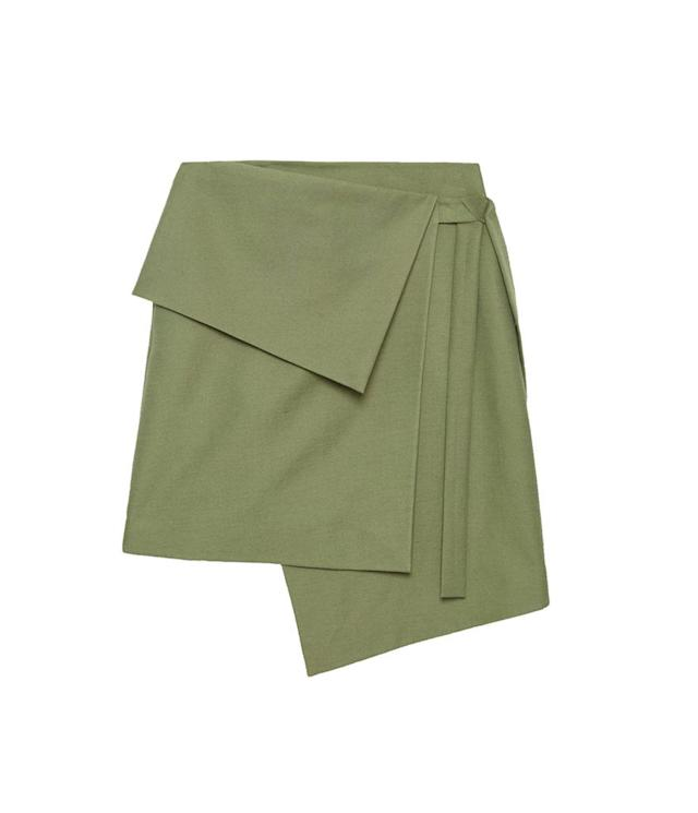 "<p>Textured Cotton Wrap-Over Skirt, $115, <a href=""http://www.cosstores.com/us/Women/Skirts/Textured_cotton_wrap-over_skirt/7086-26210795.1#c-15133331"" rel=""nofollow noopener"" target=""_blank"" data-ylk=""slk:cosstores.com"" class=""link rapid-noclick-resp"">cosstores.com</a> </p>"