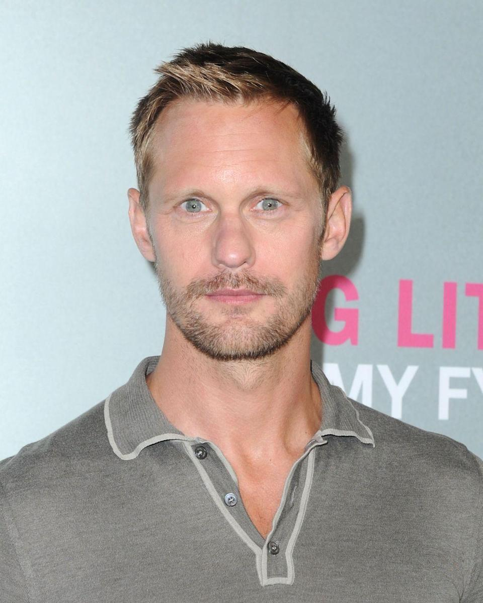 <p>We're used to see Swedish-born actor Alexander Skarsgård rock his signature blonde hair. The actor remains pretty consistent with how he styles it, too.</p>