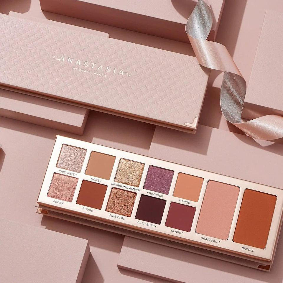 <p>If you love a neutral eye with hues of pink and warmth, you'll adore this <span>Anastasia Beverly Hills Primrose All In One Face &amp; Eye Shadow Palette</span> ($55). The palette includes a two complexion products, a highlighter and a bronzer, for a streamlined routine. </p>