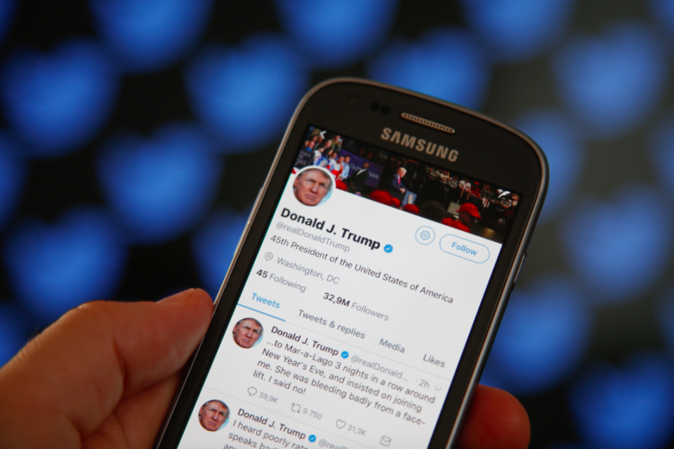 <em>Insiders say the President sometimes chooses pre-written tweets to send out (Getty)</em>