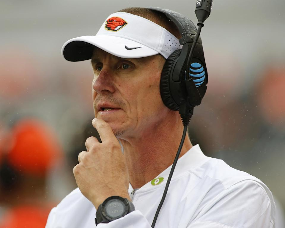 Gary Andersen was Utah State's coach before leaving for Wisconsin after the 2012 season. (AP)