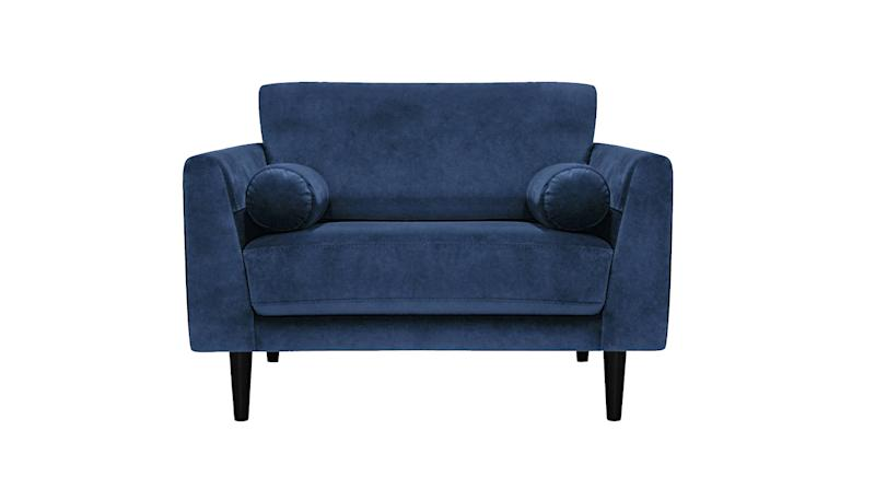 Home Jackson Velvet Cuddle Chair
