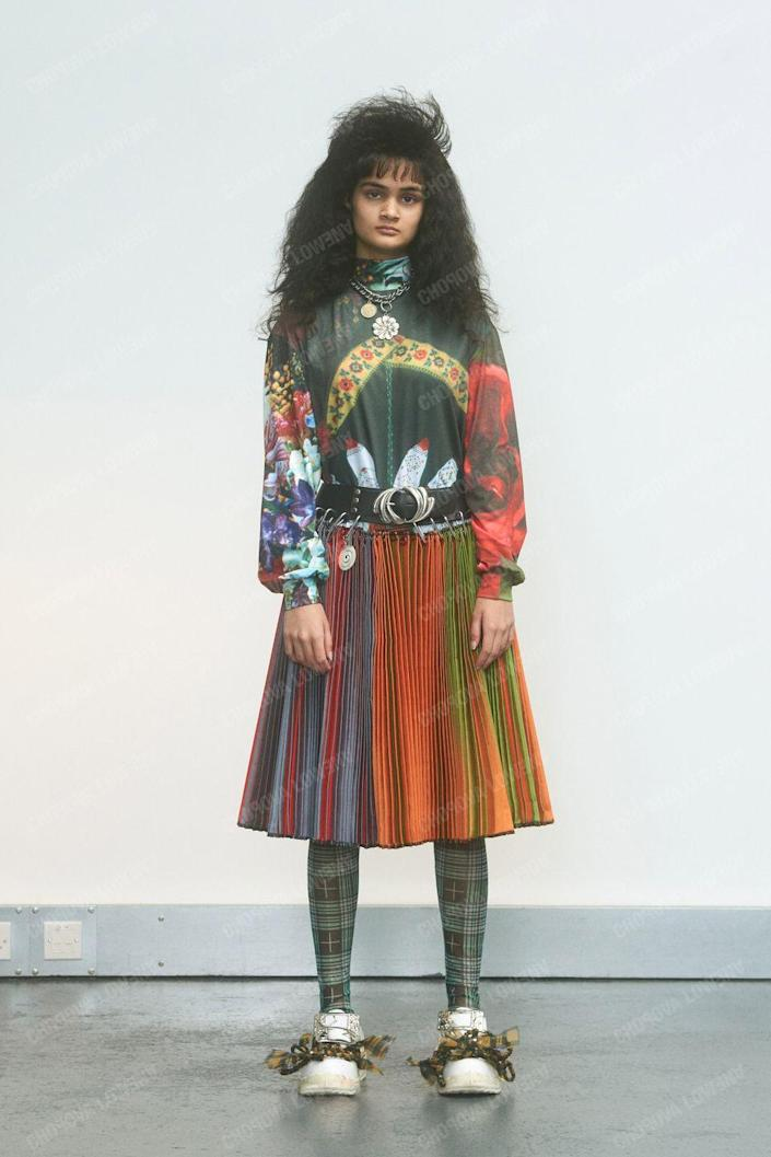 "<p>Emma Chopova and Laura Lowena met while studying at Central Saint Martins. Working out of London, the sustainably focused pair use vintage fabrics sourced in Bulgaria, and then produce their clothes in Bulgaria and England. <a href=""https://www.farfetch.com/shopping/women/chopova-lowena/items.aspx"" rel=""nofollow noopener"" target=""_blank"" data-ylk=""slk:Chopova Lowena"" class=""link rapid-noclick-resp"">Chopova Lowena</a>'s pleated patchwork skirts have already gained a serious cult following. </p>"