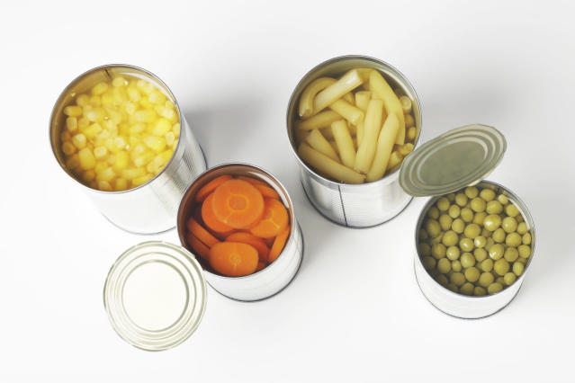 Tinned fruit and vegetables still have nutritional value. (Getty Images)