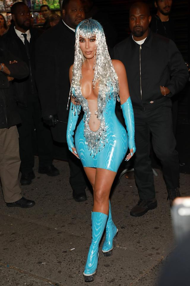 You'd Better Believe Kim Kardashian Dressed as Cher For the Met Gala Afterparty
