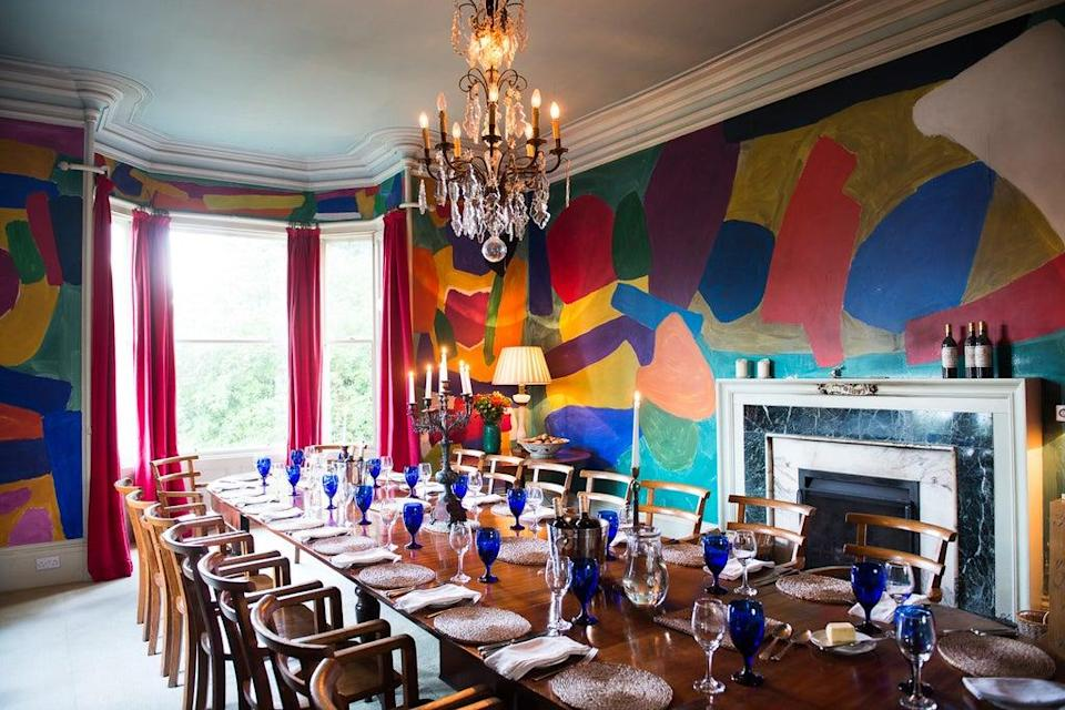 The colourful dining room at Eilean Shona's main house (James Bedford)