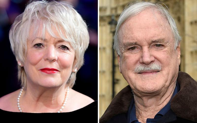 John Cleese and Alison Steadman who will appear alongdside each other in BBC sitcom comedy series Edith - Credit: PA