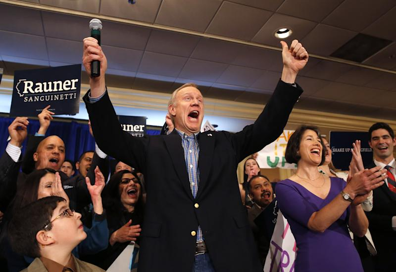 Unions, groups 'all-in' Illinois governor's race