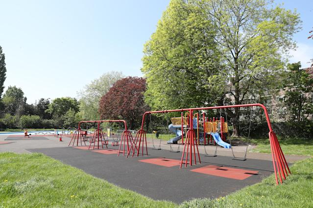 Play areas remain closed to prevent the spread of coronavirus. (Chris Jackson/Getty Images)