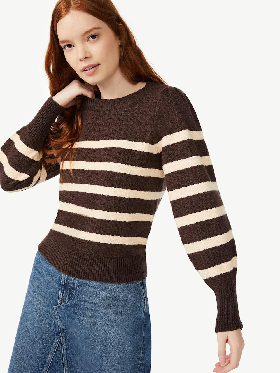 <p>The <span>Free Assembly Women's Puff Shoulder Sweater</span> ($24) features a timeless and classic stripe design with lovely puff-sleeve detailing that adds a touch of romanticism.</p>