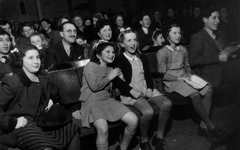 A young audience enjoys Benjamin Britten's Let's Make an Opera at Aldeburgh in 1949 - Kurt Hutton
