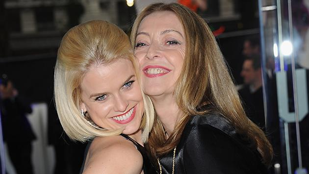 Alice Eve, left, and her mother Sharon Maughan