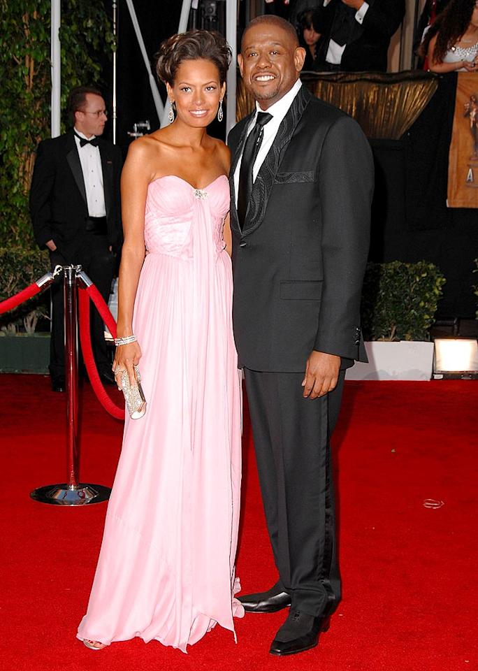 """Forest Whitaker's wife Keisha looks pretty in pink. Steve Granitz/<a href=""""http://www.wireimage.com"""" target=""""new"""">WireImage.com</a> - January 27, 2008"""