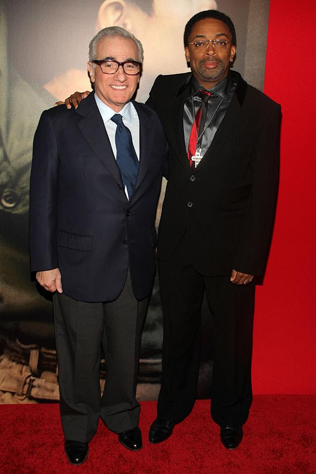 """<a href=""""http://movies.yahoo.com/movie/contributor/1800014966"""">Martin Scorsese</a> and director <a href=""""http://movies.yahoo.com/movie/contributor/1800019419"""">Spike Lee</a> at the New York City premiere of <a href=""""http://movies.yahoo.com/movie/1809947151/info"""">Miracle at St. Anna</a> - 09/22/2008"""