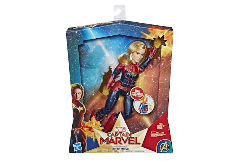 A Captain Marvel toy.