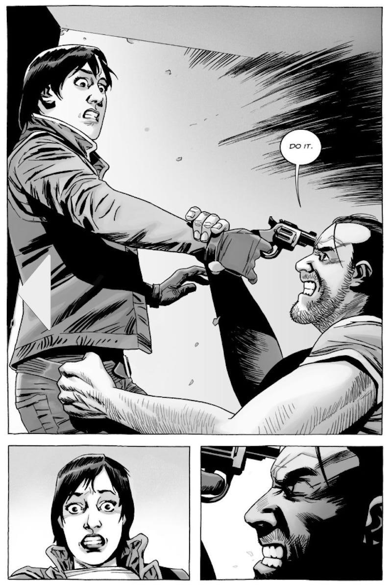 Maggie could have shot and killed Negan in 2017's issue No. 174.