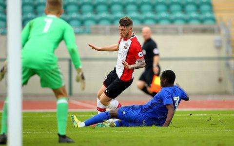 <span>Callum Slattery in action against Cardiff's Under-23s</span> <span>Credit: Getty Images </span>
