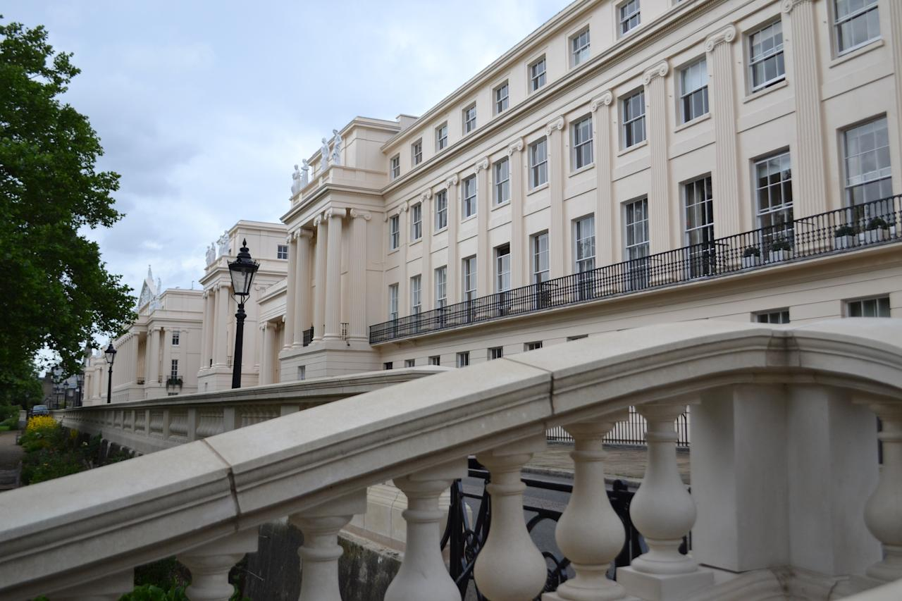 <p>Estate agents say 50 Cumberland Terrace, in Regent's Park, London is worth around £16.5 million – a whopping 75 times the price of the average home in England and Wales. </p>
