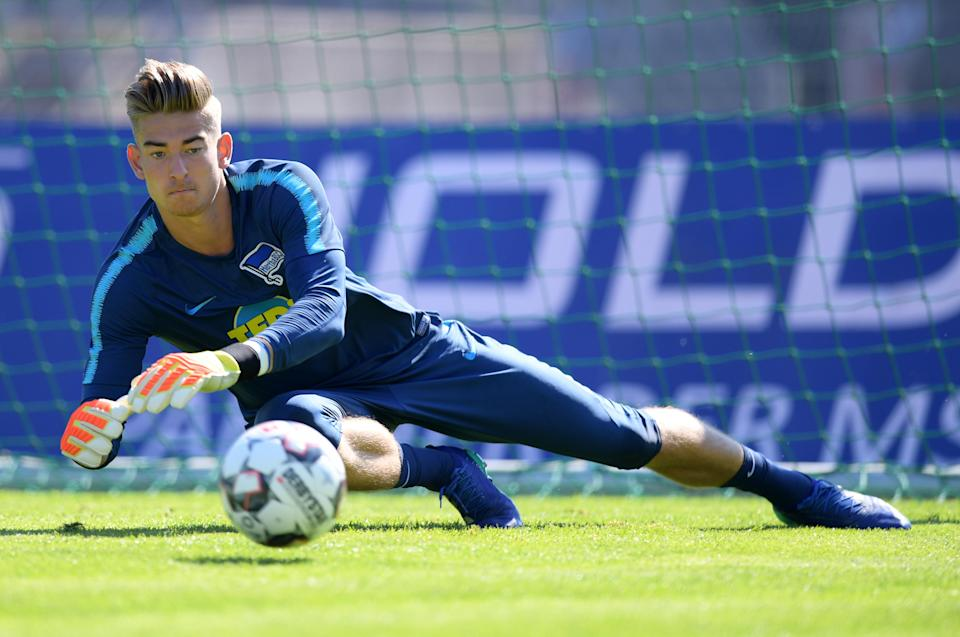 Jonathan Klinsmann, shown here during his spell with German club Hertha Berlin, signed with the LA Galaxy on Thursday. (Marco Leipold/Getty Images)