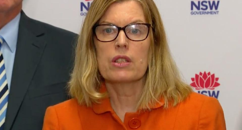 NSW Chief Medical Officer Kerry Chant warns if people are unwell to stay at home. Source: 7News